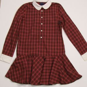 Ralph Lauren Girl's Plaid Dress 14